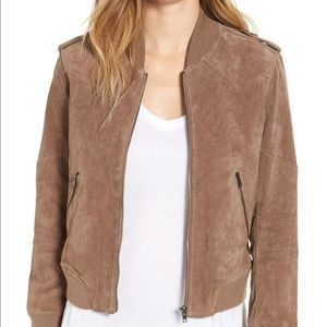 Blank NYC Suede Bomber Jacket